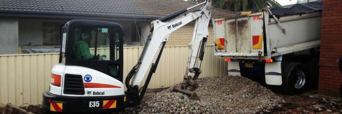 digging or excavation